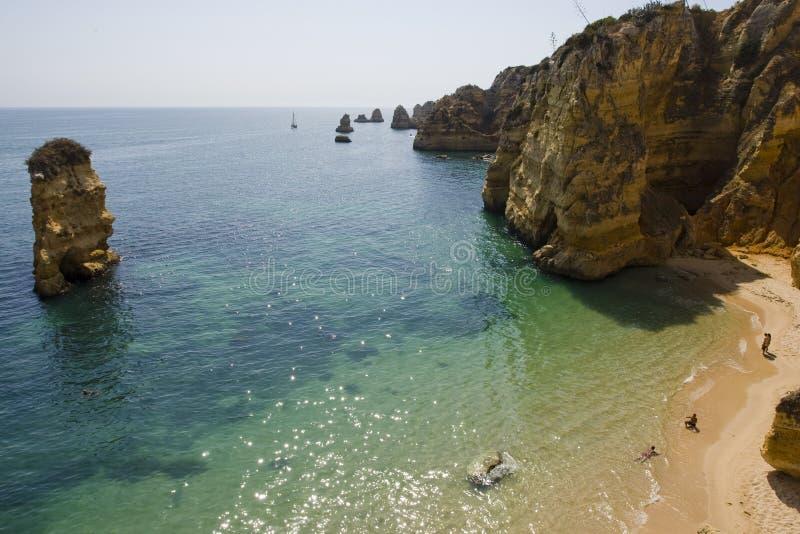 Dona Ana beach at Lagos - Algarve (Portugal). stock photos