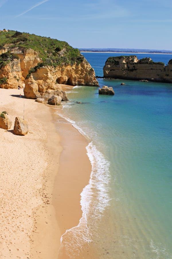 Dona Ana Beach, Lagos, Portugal imagem de stock royalty free