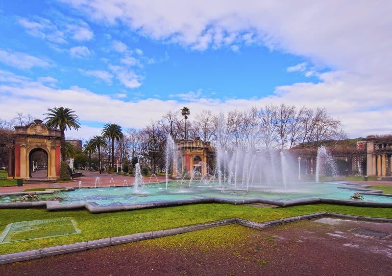 Dona Casilda de Iturrizar Park em Bilbao fotografia de stock royalty free