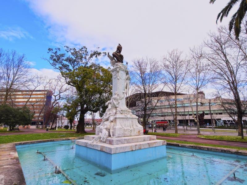 Dona Casilda de Iturrizar Park em Bilbao fotos de stock royalty free