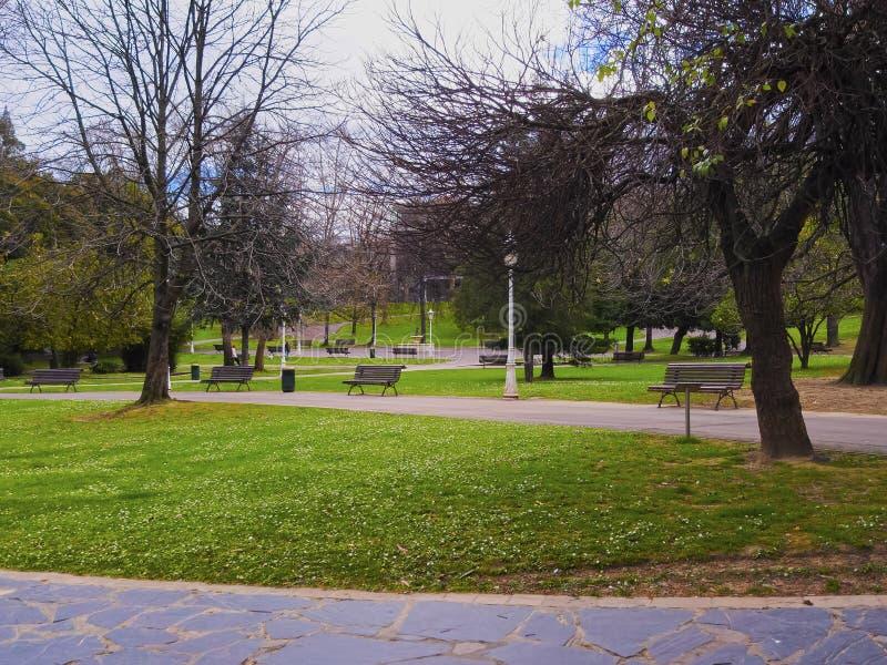 Dona Casilda de Iturrizar Park en Bilbao imagen de archivo libre de regalías