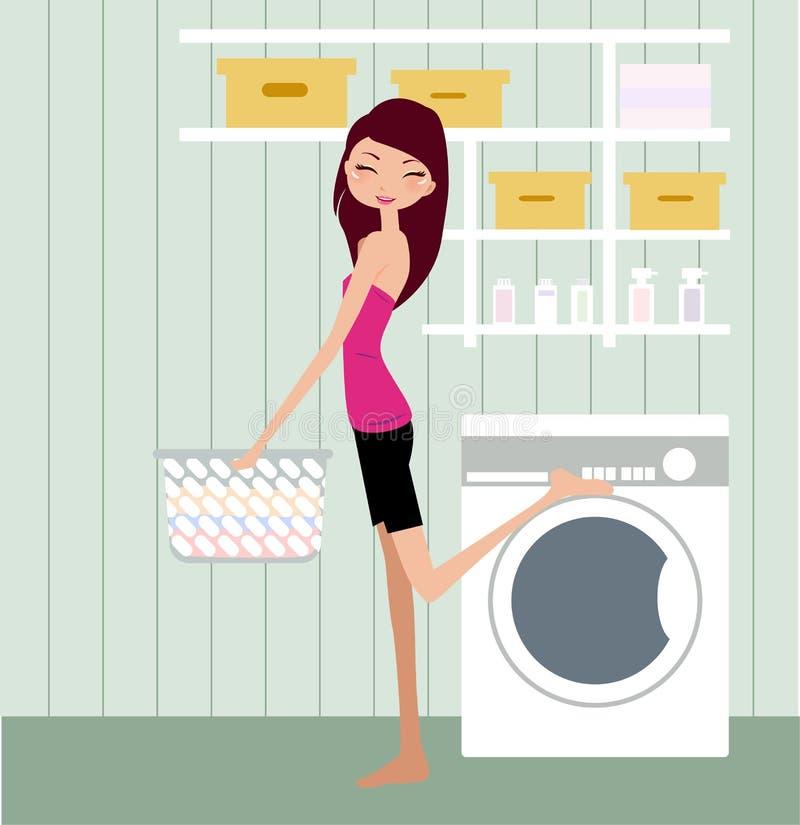 Dona de casa ilustração stock