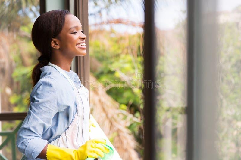 Dona de casa africana nova fotografia de stock