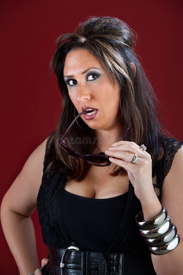Dona de casa do estilo de New-jersey no preto fotos de stock royalty free