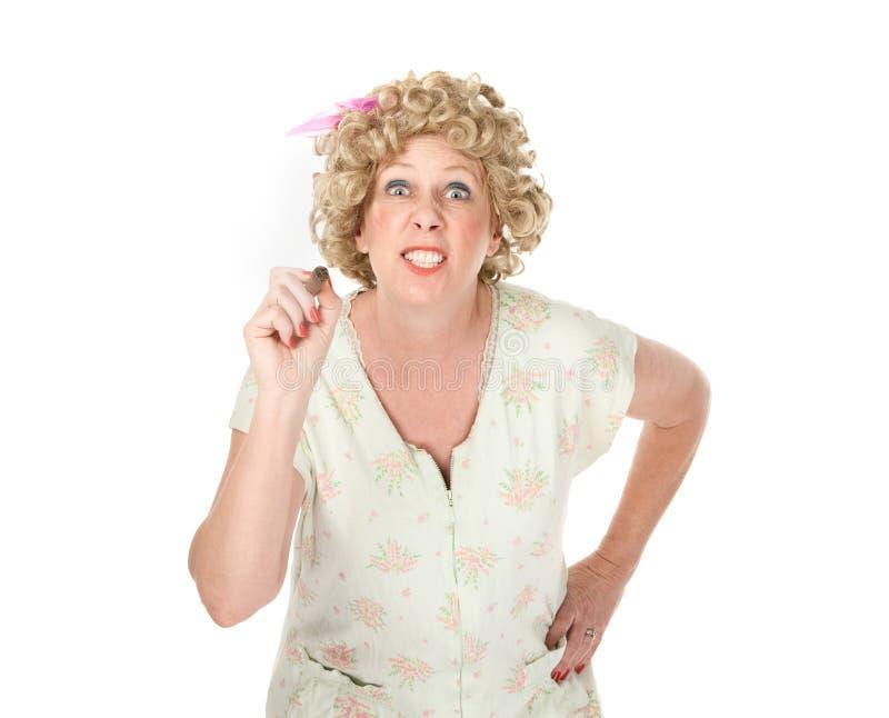 Dona de casa em um nightgown imagem de stock royalty free