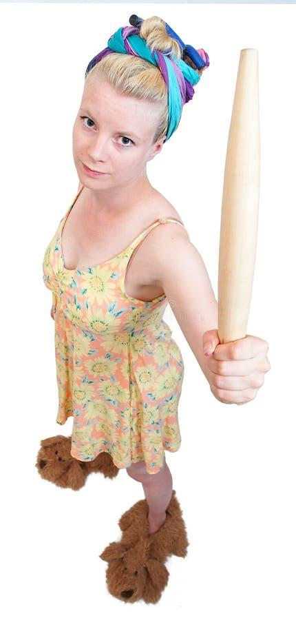 Dona de casa engraçada foto de stock