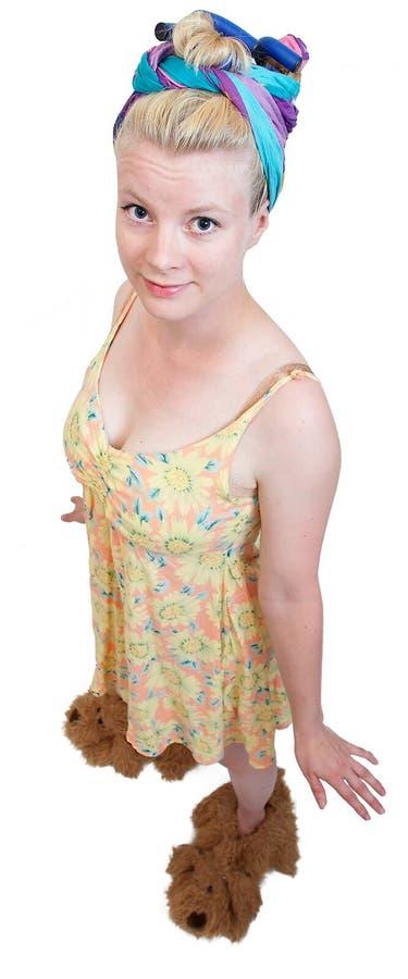 Dona de casa engraçada imagem de stock