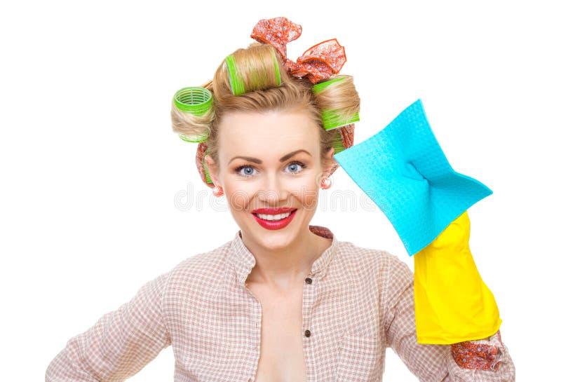 Dona de casa engraçada fotografia de stock