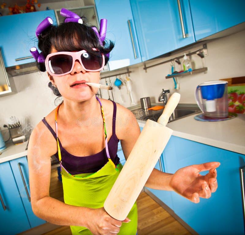 Dona de casa louca imagem de stock