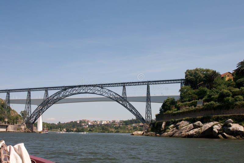 Dona Maria Pia und Sao Joao Brücken lizenzfreie stockbilder