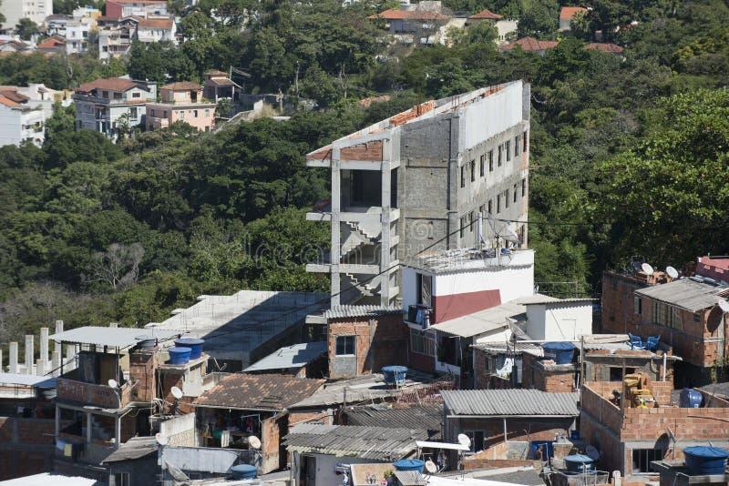 Dona Marta Slum. RIO DE JANEIRO, RJ - BRAZIL, AUGUST, 15, 2015 - Community Santa Marta, first pacified favela in the city of Rio de Janeiro, some social work is royalty free stock image