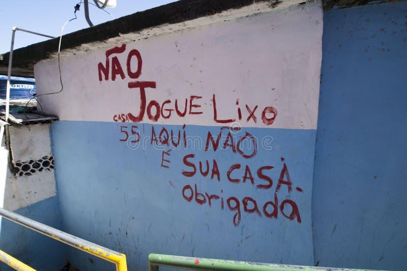 Dona Marta Slum. RIO DE JANEIRO, RJ - BRAZIL, AUGUST, 15, 2015 - Community Santa Marta, first pacified favela in the city of Rio de Janeiro, some social work is stock photo