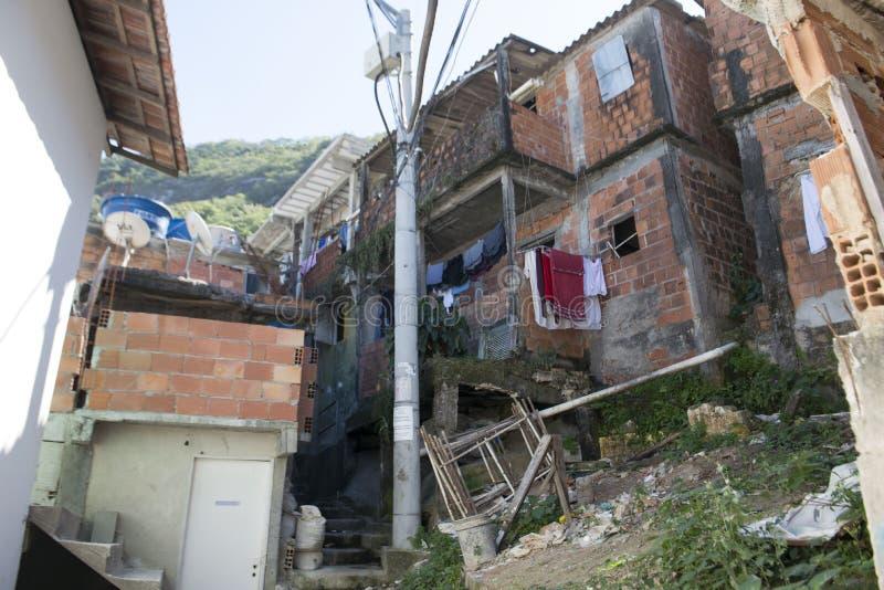 Dona Marta Slum. RIO DE JANEIRO, RJ - BRAZIL, AUGUST, 15, 2015 - Community Santa Marta, first pacified favela in the city of Rio de Janeiro, some social work is stock photos