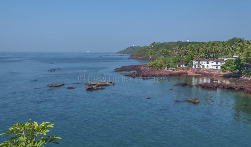 Dona Paula Beach Goa, Índia fotografia de stock