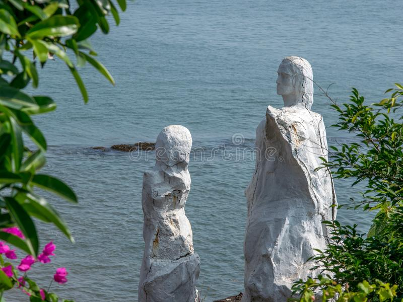 Dona Paula Jetty Statue, Shot from Dona Paula Jetty, Panaji , Goa. Dona Paula Jetty Statue Shot from Dona Paula Jetty, Panaji , Goa stock photo