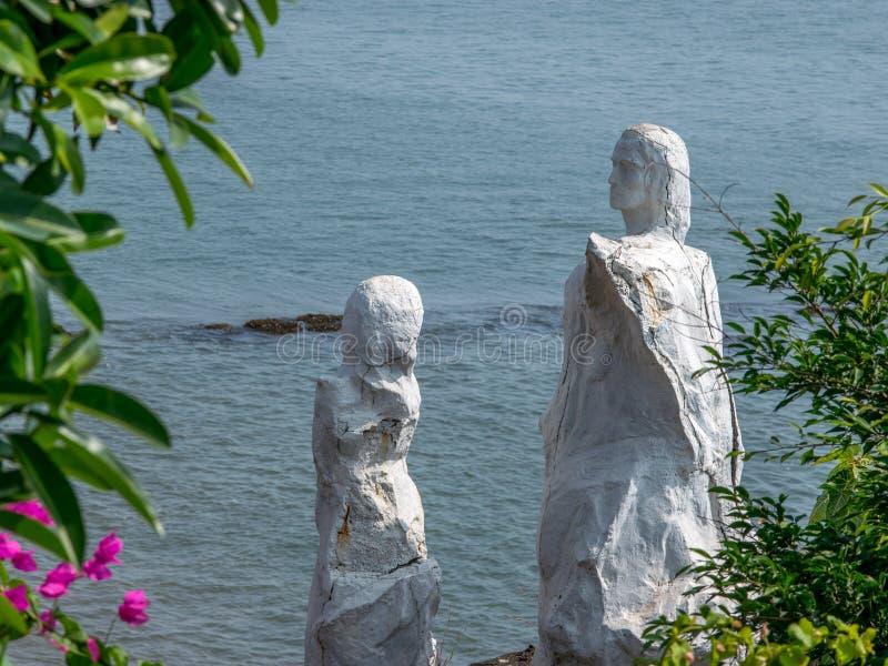Dona Paula Jetty Statue, tiro de Dona Paula Jetty, Panaji, Goa foto de stock