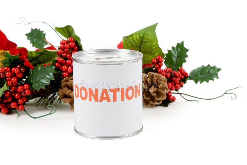 Donación de la Navidad fotografía de archivo