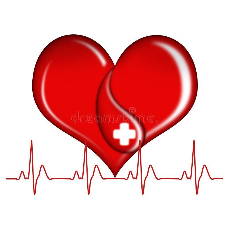 Donación de sangre stock de ilustración