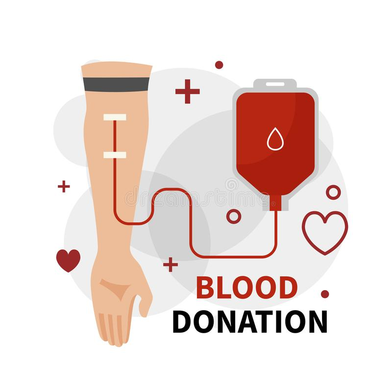 Donación de sangre infographic libre illustration