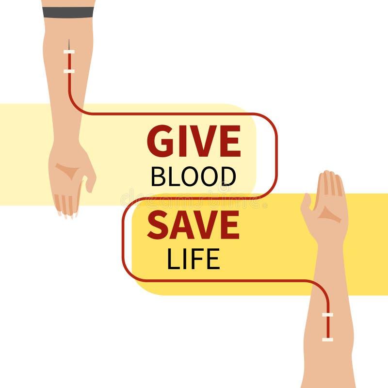 Donación de sangre infographic stock de ilustración