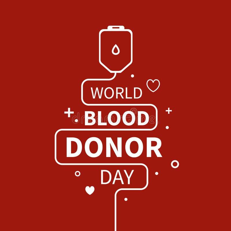 Donación de sangre infographic ilustración del vector