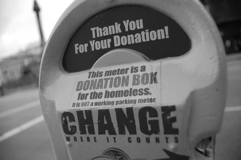 Donaciones de la caridad imágenes de archivo libres de regalías