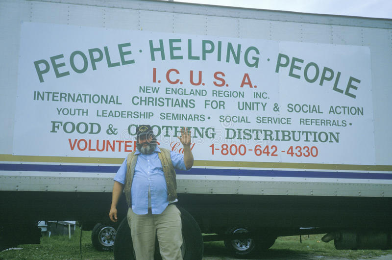 Donaciones de recogida voluntarias imagenes de archivo