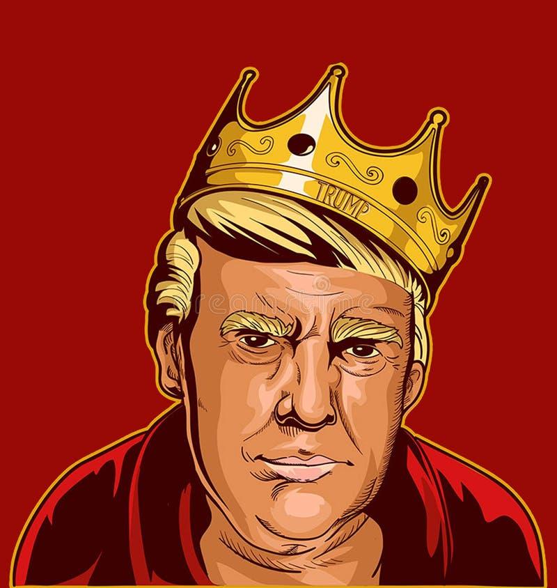 Donal atutu karykatura royalty ilustracja
