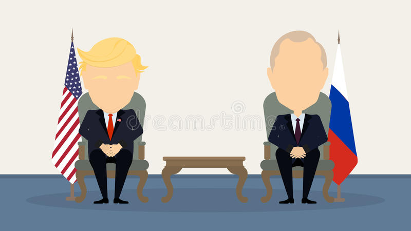 Donald atut Putin i Vladimir ilustracja wektor
