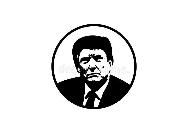 Donald atutu sylwetki logo wektor royalty ilustracja