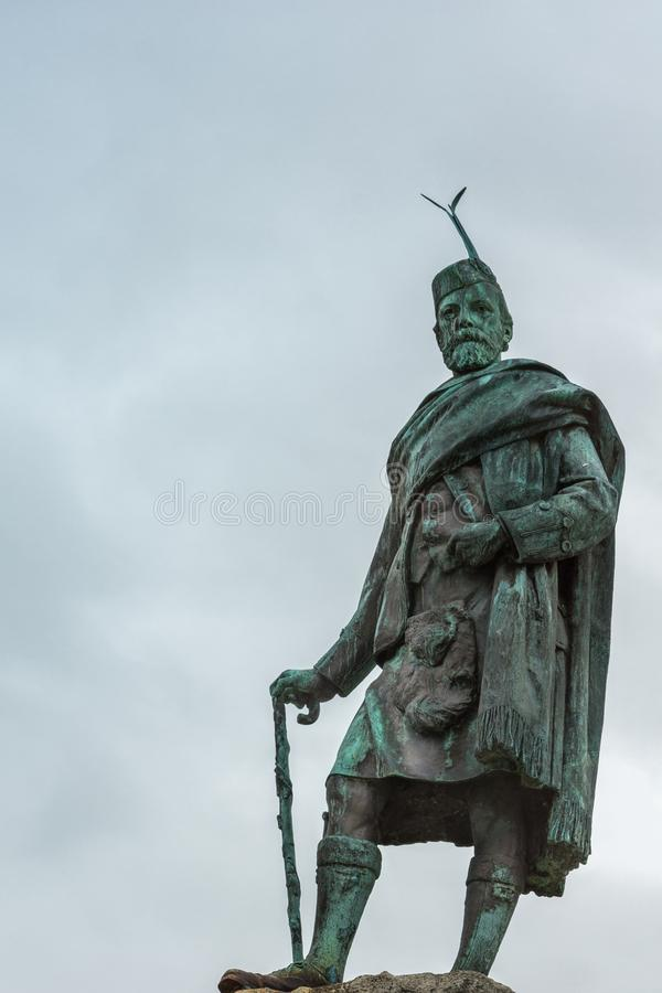 Donald Cameron του αγάλματος Lochiel, οχυρό William Σκωτία στοκ εικόνες με δικαίωμα ελεύθερης χρήσης