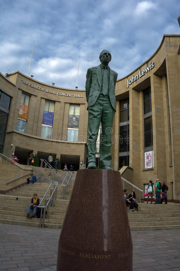 Donald dewar statua zdjęcia royalty free