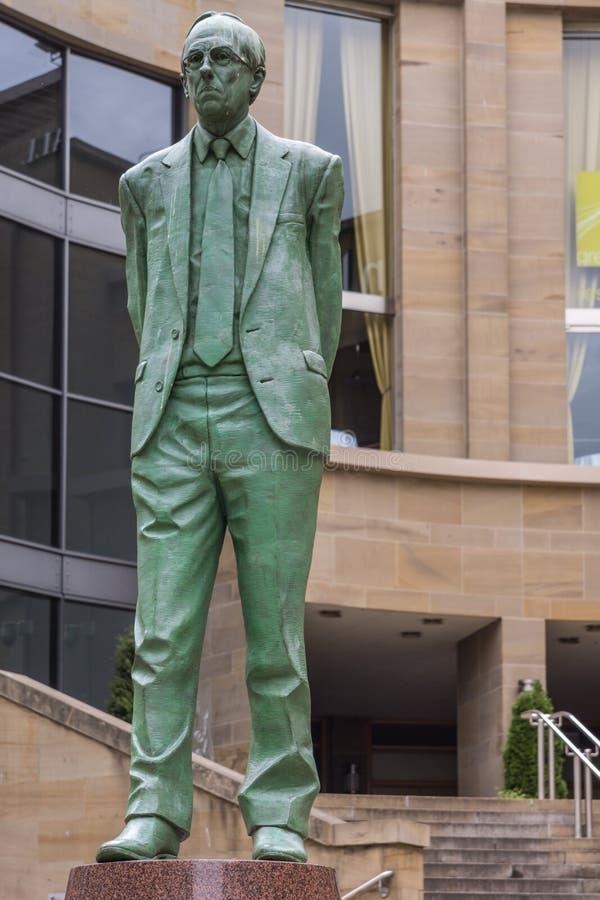 Donald Dewar statua w centrum Glasgow Szkocja UK obraz royalty free