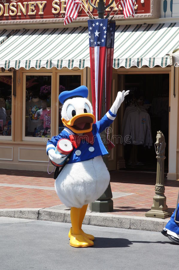 Donald Duck at Disneyland royalty free stock photography