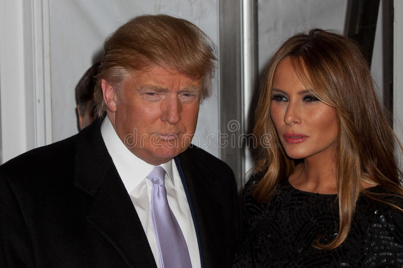 Donald et Melanie Trump photographie stock