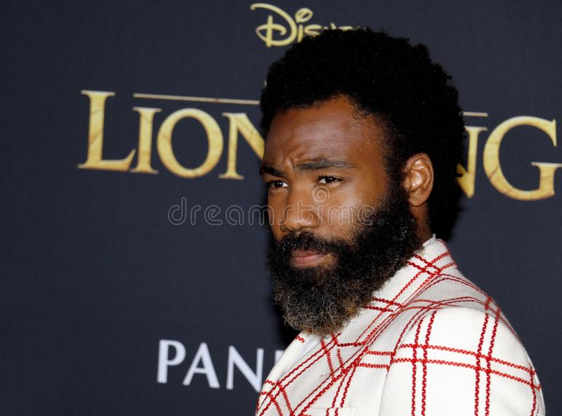 Donald Glover, Gambino puéril photo libre de droits