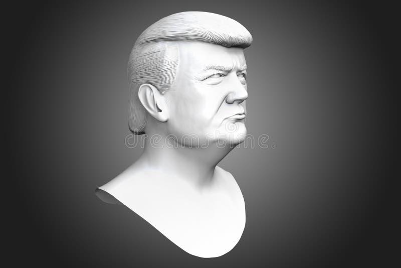 Donald John Trump. President of the United States. 3d render illustration vector illustration