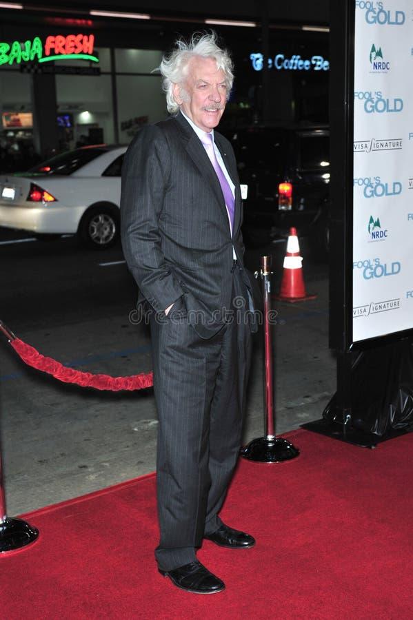Donald Sutherland imagem de stock royalty free