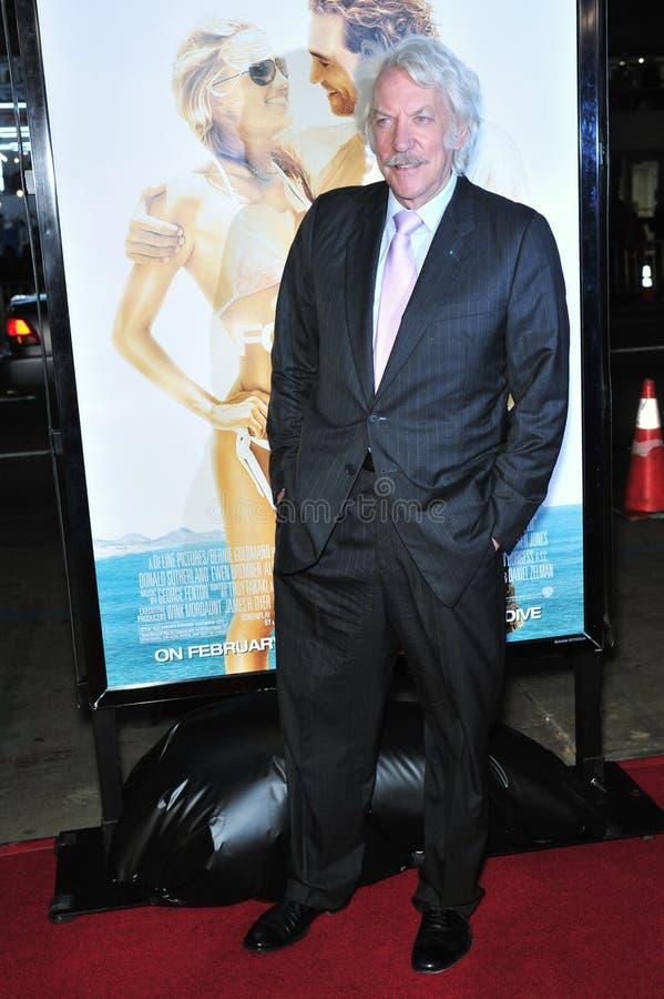 Donald Sutherland fotografia de stock royalty free