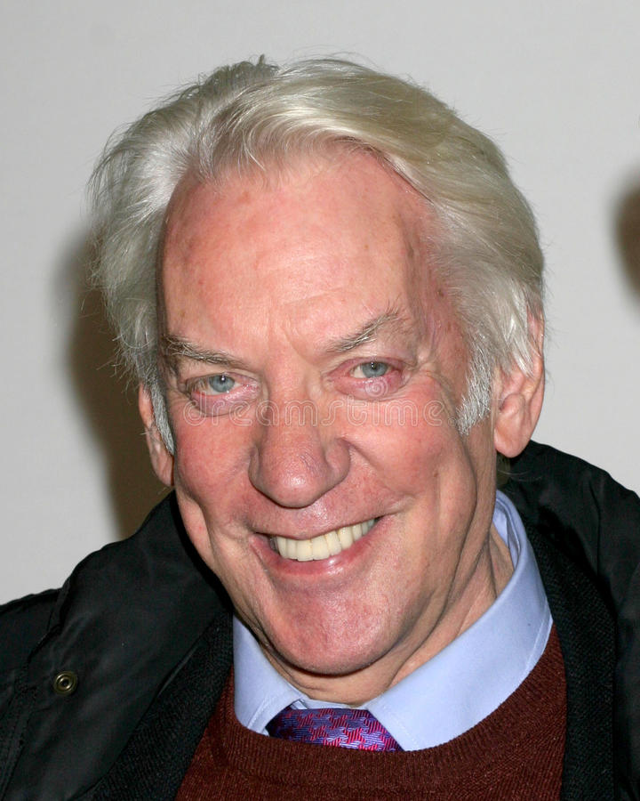 Download Donald Sutherland editorial stock image. Image of theater - 26358959