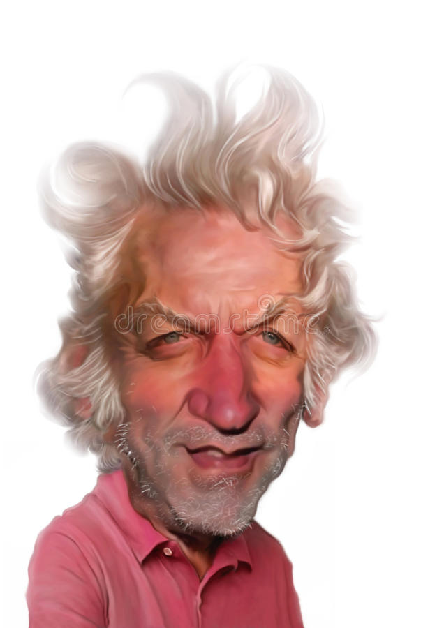 Donald Sutherland Caricature. For editorial use, for newspaper, magazines and web