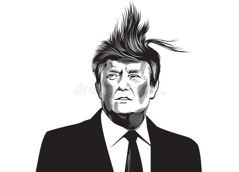 Donald Trump ilustração royalty free