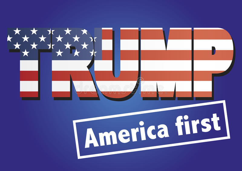 Donald Trump America first royalty free illustration