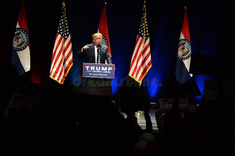 Donald Trump Campaigns à St Louis photos libres de droits