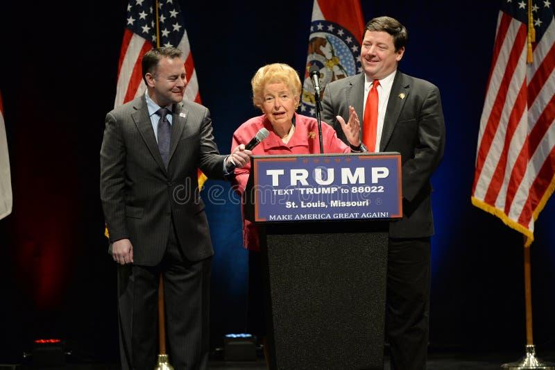 Donald Trump Campaigns à St Louis image libre de droits