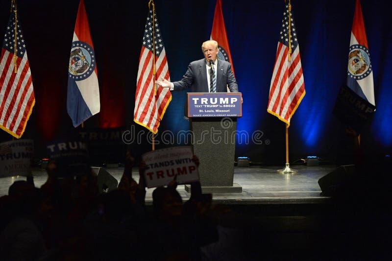 Donald Trump Campaigns em St Louis fotografia de stock
