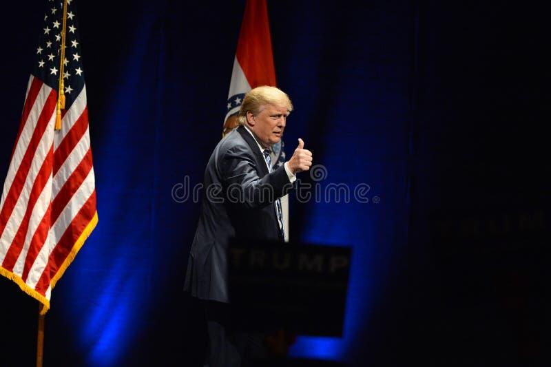 Donald Trump Campaigns en St. Louis fotografía de archivo libre de regalías