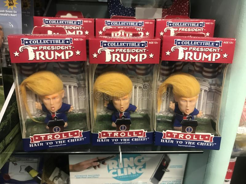 Donald Trump Collectible Troll Dolls fotografering för bildbyråer