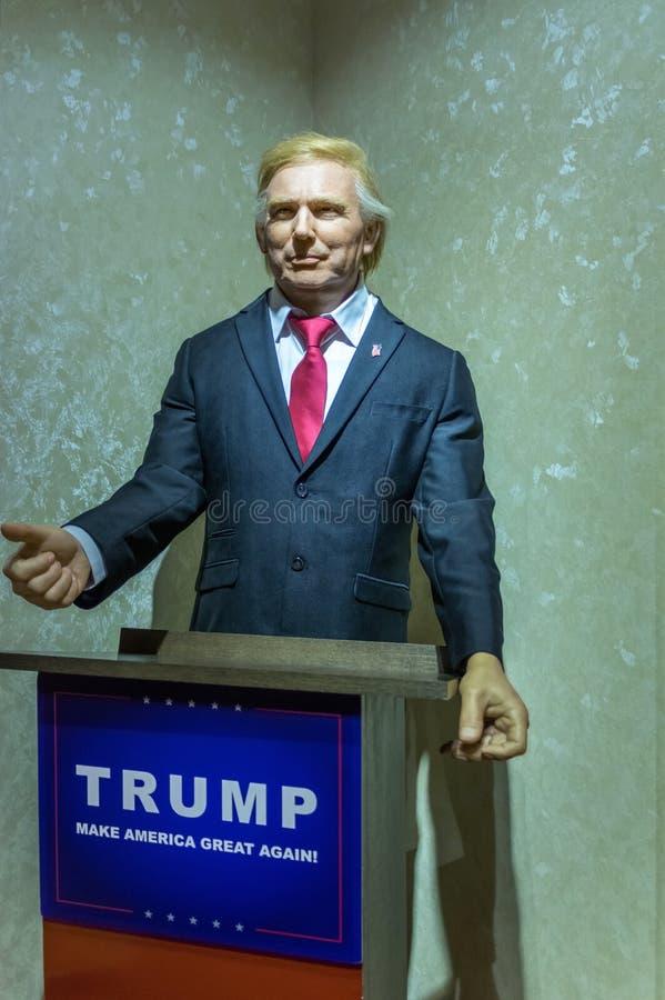 Donald Trump de la statue des Etats-Unis images libres de droits