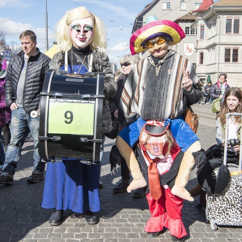 Donald Trump e paródia mexicana do carnaval imagem de stock royalty free